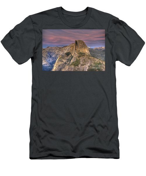 Full Moon Rise Behind Half Dome Men's T-Shirt (Athletic Fit)