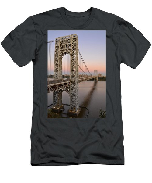 George Washington Bridge At Sunset Men's T-Shirt (Athletic Fit)