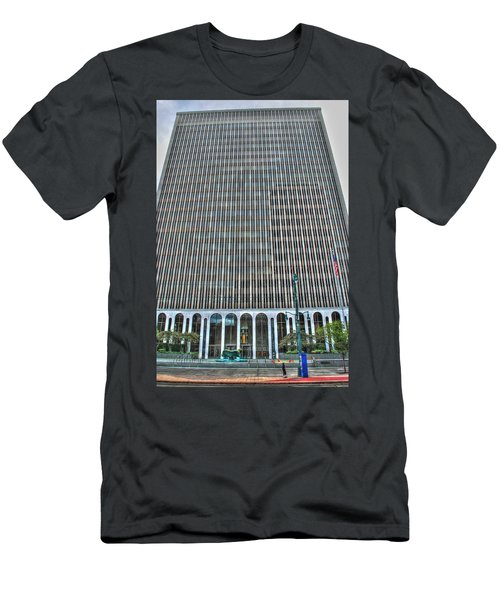 Men's T-Shirt (Slim Fit) featuring the photograph Giant Bank Of M And T by Michael Frank Jr