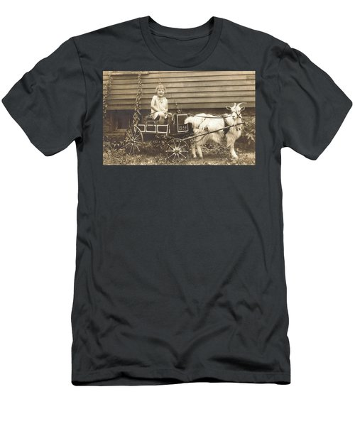 Men's T-Shirt (Slim Fit) featuring the photograph Goat Wagon by Bonfire Photography