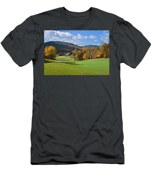 Golf Course In Autumn Men's T-Shirt (Athletic Fit)