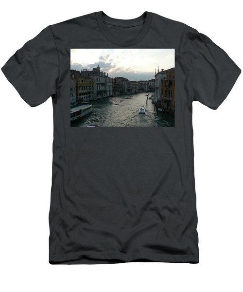 Men's T-Shirt (Slim Fit) featuring the photograph Grand Canal At Dusk by Laurel Best