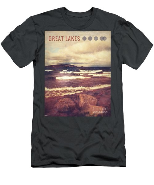 Men's T-Shirt (Slim Fit) featuring the photograph Great Lakes by Phil Perkins