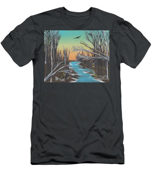Men's T-Shirt (Slim Fit) featuring the painting Happy Day by Alys Caviness-Gober