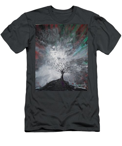 Haunted Tree Men's T-Shirt (Athletic Fit)