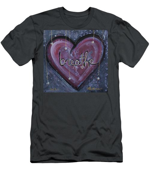 Heart Says Breathe Men's T-Shirt (Athletic Fit)