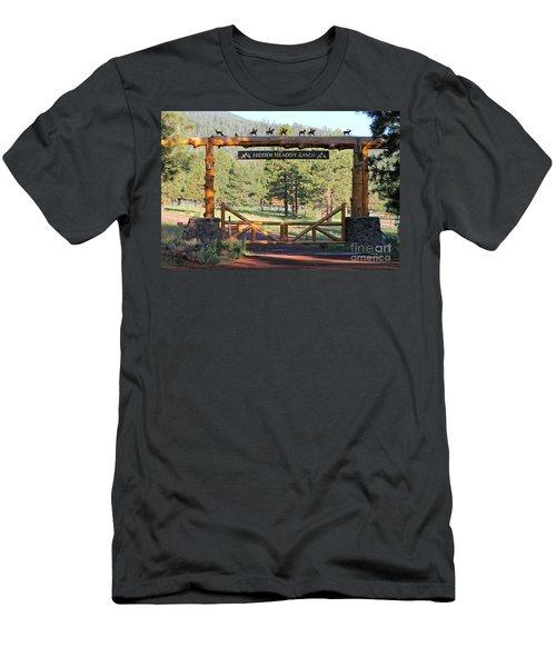 Hidden Meadow Ranch Men's T-Shirt (Slim Fit) by Pamela Walrath