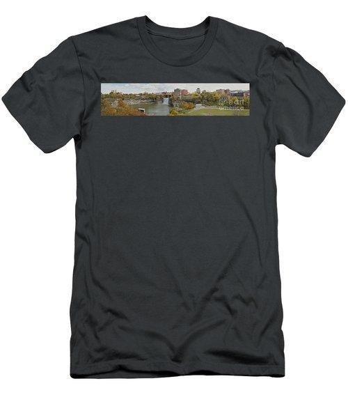 High Falls Panorama Men's T-Shirt (Athletic Fit)