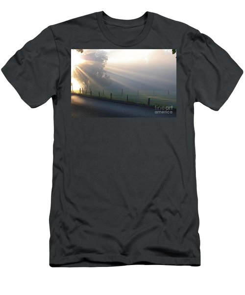 Hope Is In His Light Men's T-Shirt (Athletic Fit)