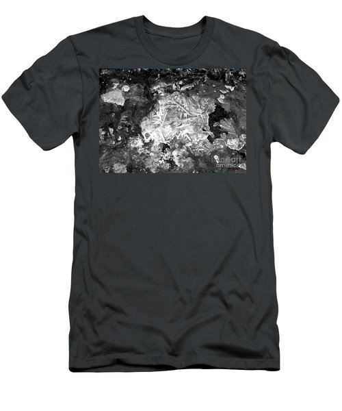 Men's T-Shirt (Slim Fit) featuring the photograph Icy Road by Chalet Roome-Rigdon