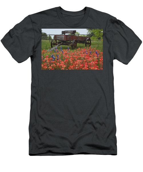 Indian Paintbrush And Wagon Men's T-Shirt (Athletic Fit)