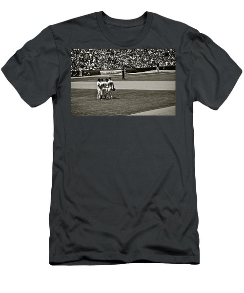 Men's T-Shirt (Slim Fit) featuring the photograph Infield Meeting by Eric Tressler