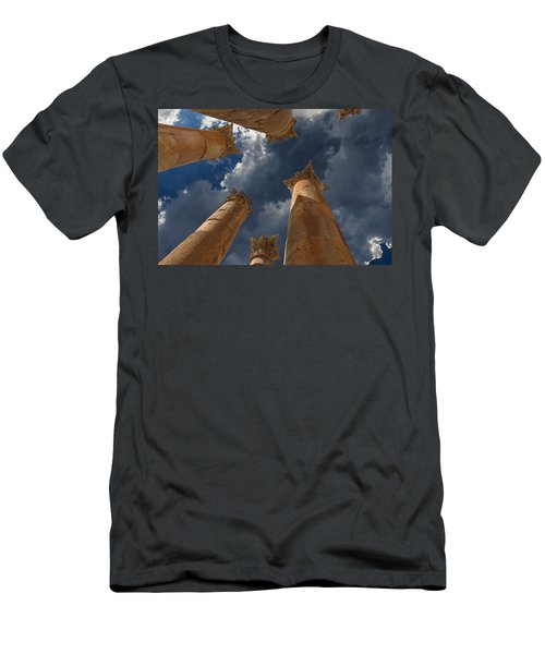 Men's T-Shirt (Slim Fit) featuring the photograph Jerash by David Gleeson