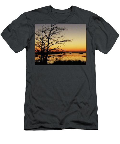 Men's T-Shirt (Slim Fit) featuring the photograph Lacassine Sunset by Lizi Beard-Ward