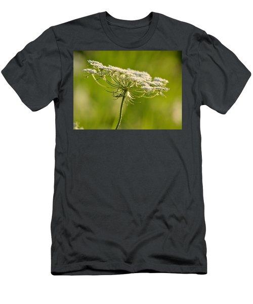Lacy White Flower Men's T-Shirt (Athletic Fit)