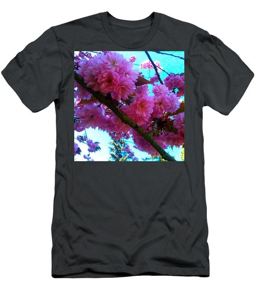Laden Pink Flowering Dogwood Men's T-Shirt (Athletic Fit)