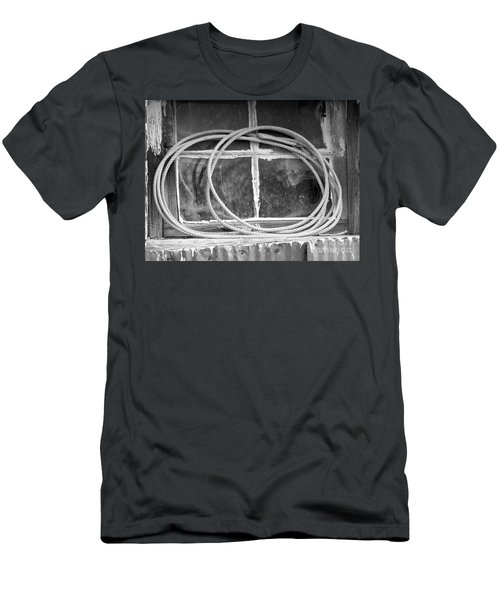 Men's T-Shirt (Slim Fit) featuring the photograph Lasso In The Window  by Deniece Platt