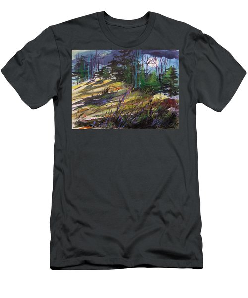 Men's T-Shirt (Slim Fit) featuring the painting Light Against Indigo by John Williams