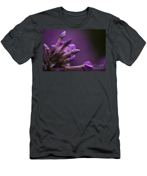 Men's T-Shirt (Slim Fit) featuring the photograph Lilac Spirals. by Clare Bambers