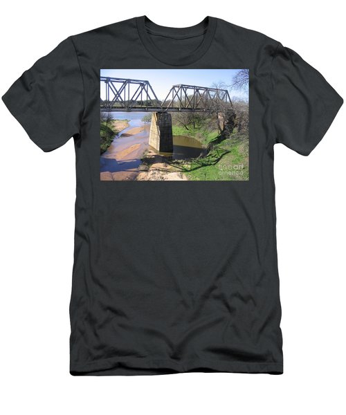 Men's T-Shirt (Slim Fit) featuring the photograph Little Llano Creek by Mark Robbins