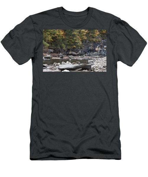 Loyalsock Creek In The Fall Men's T-Shirt (Athletic Fit)