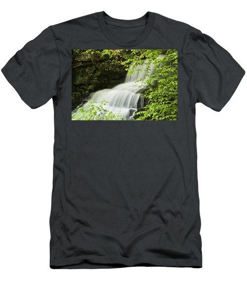 Loyalsock Waterfall Men's T-Shirt (Athletic Fit)
