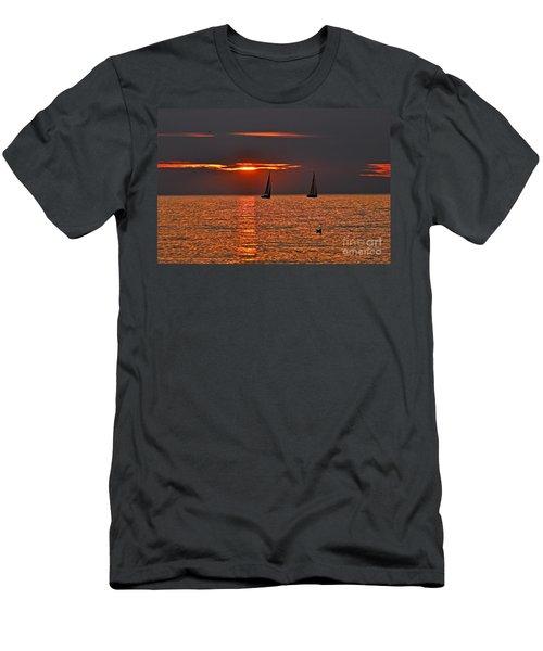 Coral Maritime Dream Men's T-Shirt (Athletic Fit)
