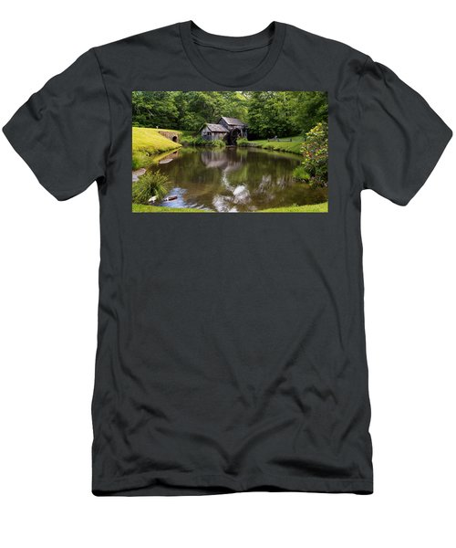 Mabry Mill And Pond Men's T-Shirt (Athletic Fit)