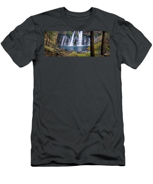 Macarthur-burney Falls Panorama Men's T-Shirt (Athletic Fit)