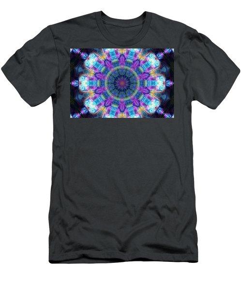 Men's T-Shirt (Slim Fit) featuring the digital art Magic Snowflake by Alec Drake