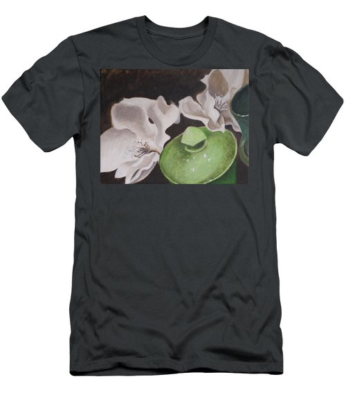 Magnolias With Green Sugar Bowl Men's T-Shirt (Athletic Fit)