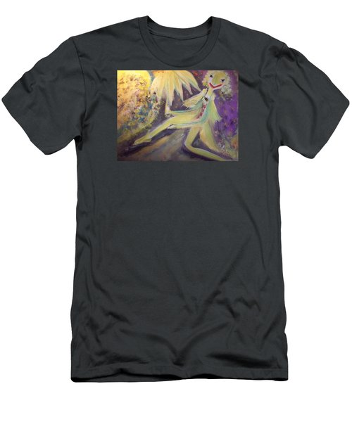 Man In The Moon Men's T-Shirt (Slim Fit) by Judith Desrosiers