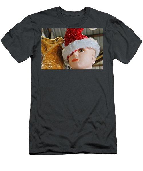 Manniquin Santa 2 Men's T-Shirt (Slim Fit) by Bill Owen
