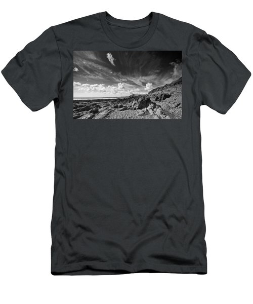 Men's T-Shirt (Slim Fit) featuring the photograph Manorbier Rocks by Steve Purnell