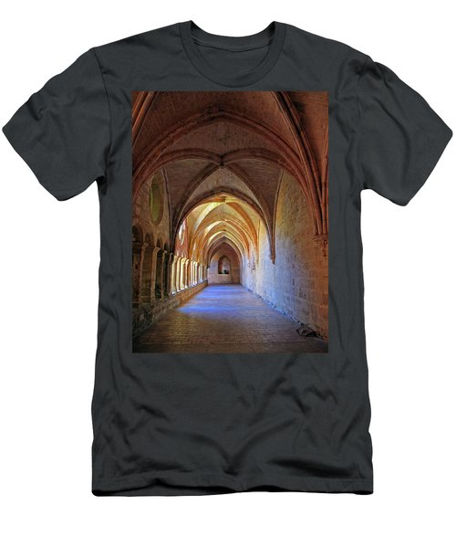 Men's T-Shirt (Slim Fit) featuring the photograph Monastery Passageway by Dave Mills