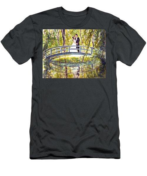 Men's T-Shirt (Slim Fit) featuring the painting Monet Wedding by Clara Sue Beym