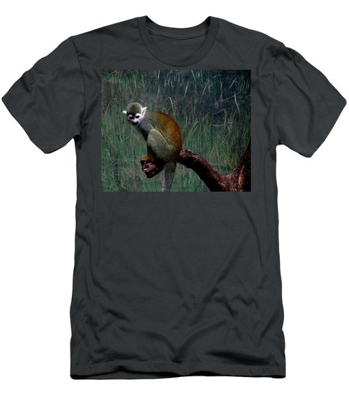 Men's T-Shirt (Slim Fit) featuring the photograph Monkey by Maria Urso