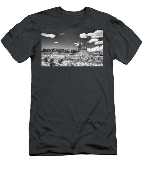 Monument Valley In Monochrome  Men's T-Shirt (Athletic Fit)