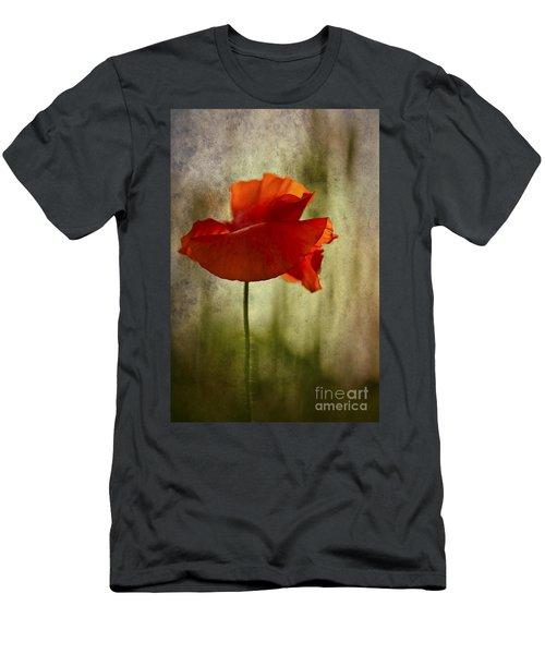 Moody Poppy. Men's T-Shirt (Athletic Fit)