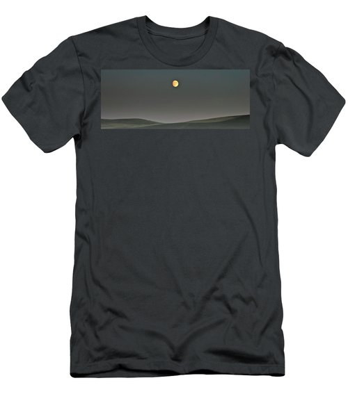 Moon Over The Palouse Men's T-Shirt (Slim Fit) by Albert Seger