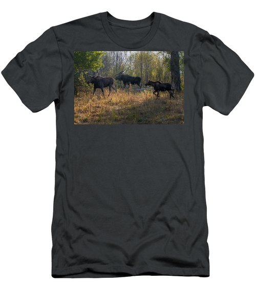 Moose Family Men's T-Shirt (Athletic Fit)