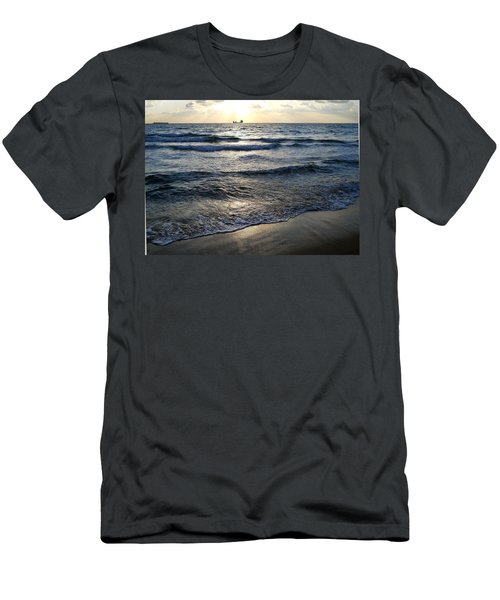 Men's T-Shirt (Slim Fit) featuring the photograph Morning Surf by Clara Sue Beym