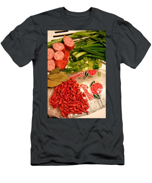 Men's T-Shirt (Athletic Fit) featuring the photograph New Orleans' Red Beans And Rice by KG Thienemann