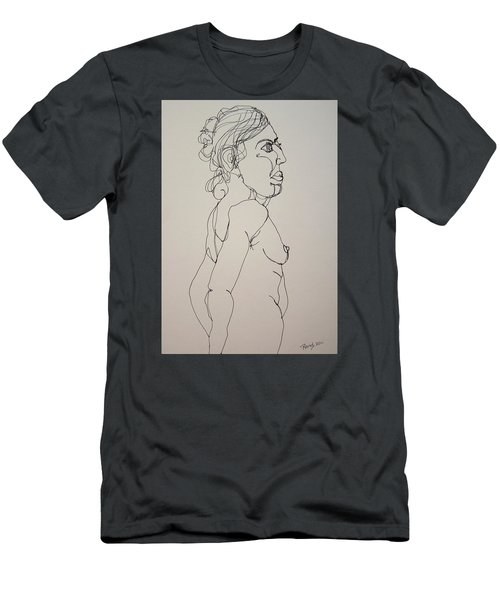 Nude Girl In Contour Men's T-Shirt (Slim Fit) by Rand Swift