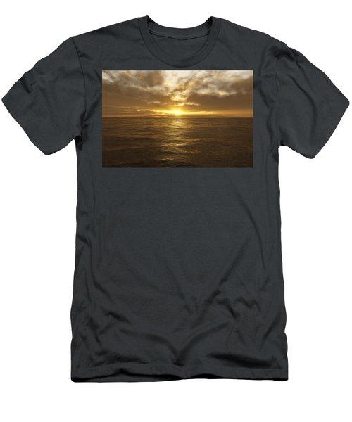 Ocean Sunset Men's T-Shirt (Athletic Fit)