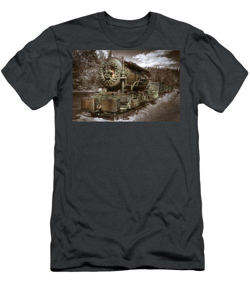 Old Mine Train Banff Men's T-Shirt (Athletic Fit)