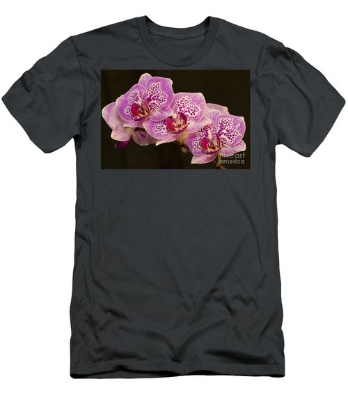 Orchids Men's T-Shirt (Slim Fit) by Eunice Gibb