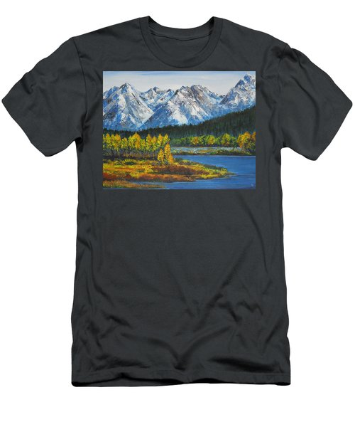 Oxbow-grand Tetons  Men's T-Shirt (Athletic Fit)