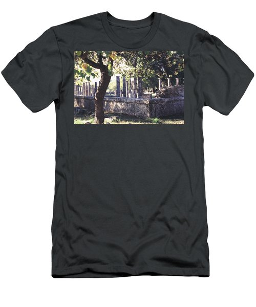 Men's T-Shirt (Slim Fit) featuring the photograph Palestra Olympic Site Greece by Tom Wurl