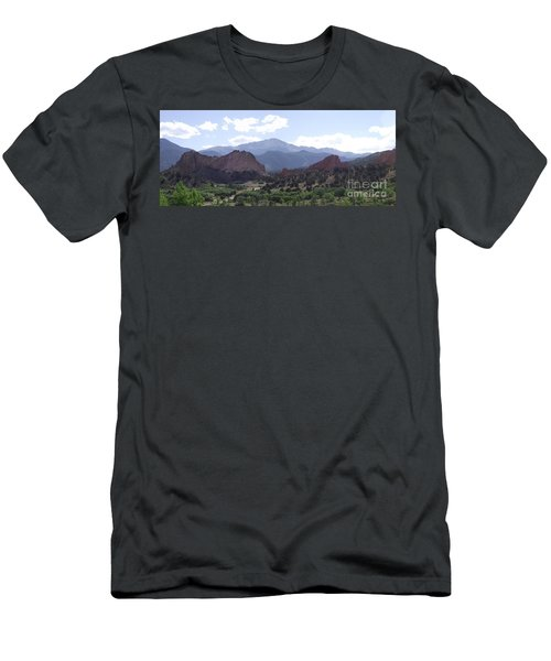 Panoramic Garden Of The Gods Men's T-Shirt (Athletic Fit)